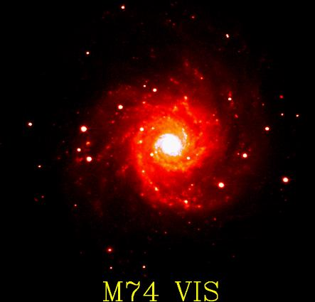 [M74 in visible light]